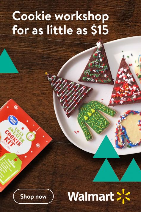 Walmart knows the holidays are all about creating family traditions. And there's no better or easiertradition than making warm holiday cookies and brownies with your kids. No tastier one either.