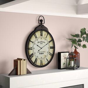 Sumpter Wall Clock In 2020 Clock Medallion Wall Decor Brown Wall Clocks
