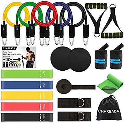 The SAG Exersice Resistance Bands Set with Handles 5 Fitness Workout Bands