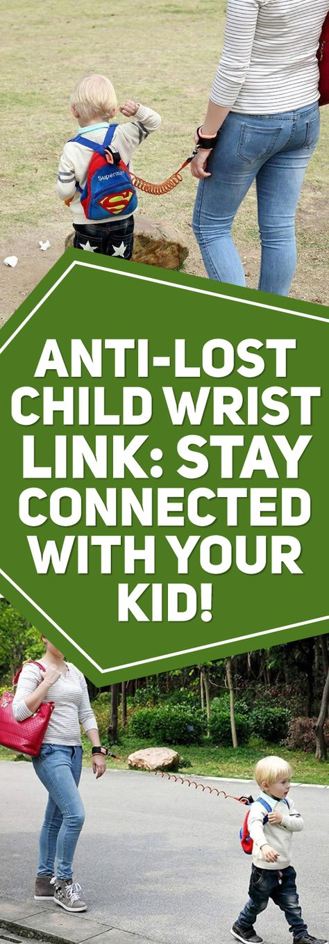 KEEP YOUR CHILD SAFE AT ALL TIMES! In a world filled with uncertainty, the last thing you want to have to worry about is losing your child in a crowd. Well, worry no more! With the Anti-Lost Child Wrist Link your child is safe and sound, right by your side, at all times. The child wrist link cord is extremely secure and durable and features a double layer velcro strap with a strong, connecting, coiled wire.