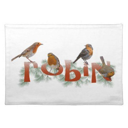 Robins Placemat Choose Colour Kitchen Gifts Diy Ideas Decor Special Unique Individual Customized Diy Stuffed Animals Pet Gifts Placemats