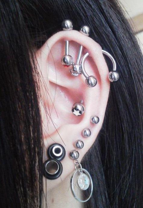 industrial ear piercing & plugs ・ 耳ピアス