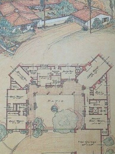 Mexican Hacienda Style House Plans Inspirational 20 Spanish Style Homes From Some Country To Insp Courtyard House Plans Spanish Style Homes Vintage House Plans