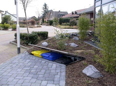 Mulltonnen Verstecken Einfach Per Knopfdruck Planungswelten Mulltonnen Verstecken Aufbewahrung Garten Vorgarten