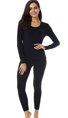 d94be6428c3e80 HieasyFit Womens Thermal Underwear Long Johns Fleece Lined Winter Base  Layer Set >>> You can get more details by clicking on the image.  #ThermalUnderwears