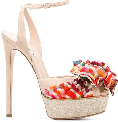 Bow detail sandals | Pumps heels, Work pumps, Shoe boots