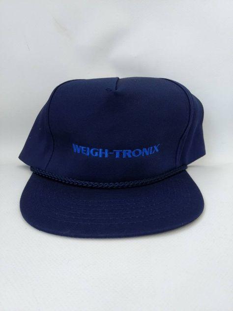 Trucker Hat Avery Weigh Tronix Blue 1980s 1990s Full Back Cap Etsy Vintage Trucker Hats Retro Accessories Trucker Hat