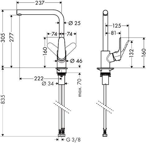 Hansgrohe Focus E mosogató csaptelep u2022 Rubit vízkőtlenítő - k chenarmatur mit schlauchbrause