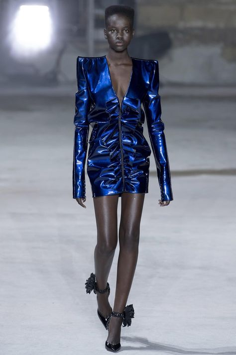 Anthony Vaccarello picks YSL influence from the brash 1980s.