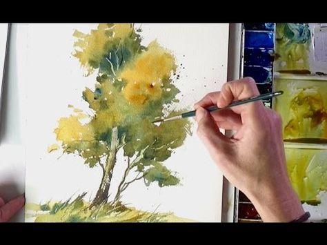Aquarell Farb U Luftperspektive Ganz Einfach Youtube Malen