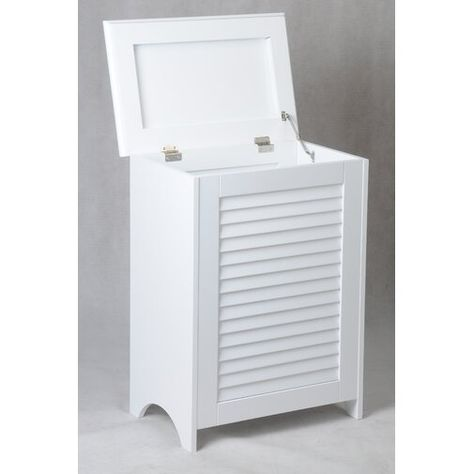 Louvered Front Cabinet Laundry Hamper