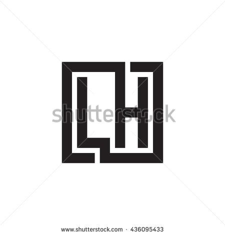Lh Initial Monogram Logo Free Image 342921905 Lettering