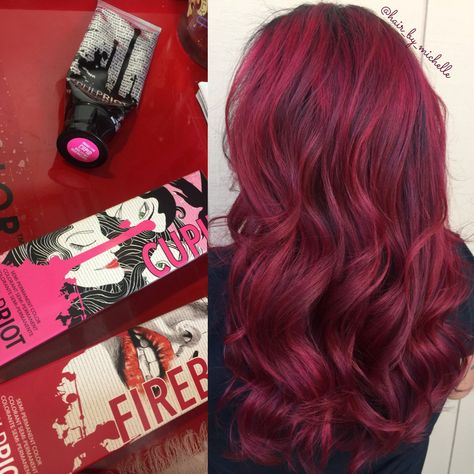 Pulp Riot Red Balayage, painted hair