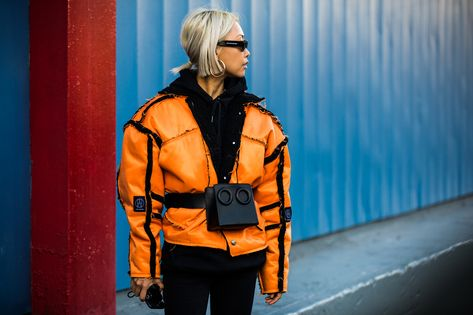 Street style at New York Fall-Winter Fashion Week Photo credit: Sandra Semburg