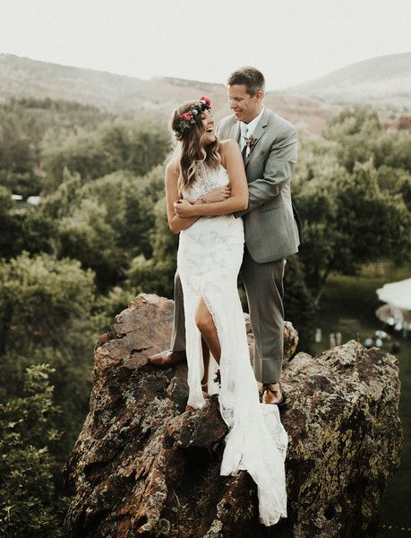 On Top of the World - What Real Bohemian Brides Wore Down the Aisle - Photos