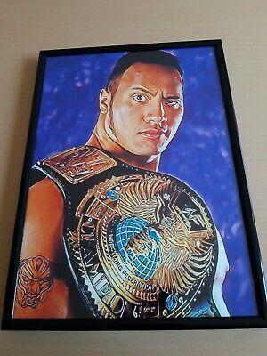 WWF WWE Big Boss in A4 stampa 230GSM POSTER Retrò Wall Art
