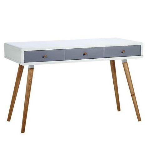Milan Direct Vasby Desk Console 3 Drawer Scandinavian Mesas Para Pequenos Espacos Mobiliario Escandinavo Ideias Para Mobilia