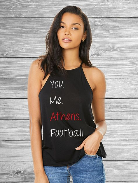 ef5943f6f8c8b You. Me. Athens. Football. Women s Flowy High Neck Tank