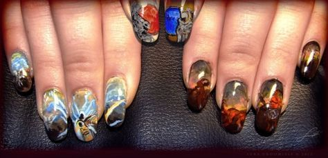 I would never have my nails this long but I am just geeking out over D3 NAILS!
