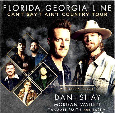 Florida Georgia Line Sets Cant Say I Aint Country Tour Country Countrymusic Nashville Florida Georgia Line Country Country Music