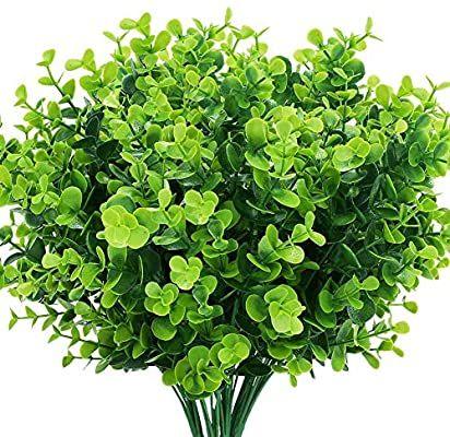 Fake Boxwood Bush Stems Bush Greenery Wedding Flowers Centerpieces Faux