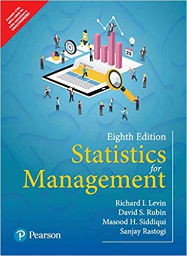 Statistics For Management 8th 8e By Richard Levin Management Statistics Textbook