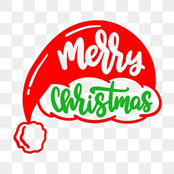 Santa Claus Hat And Lettering Merry Christmas Santa Clipart Lettering Merry Christmas Png And Vector With Transparent Background For Free Download Clip Art Santa Hat Vector Lettering