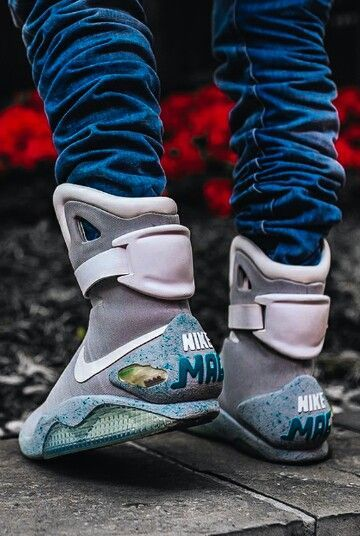 official photos 9f23e 27b16 Nike Mag Shoes Glow In The Dark High Tops Grey Cheap Sale-Buy Real ...    swag   Nike mag, Nike air mag, Sneakers