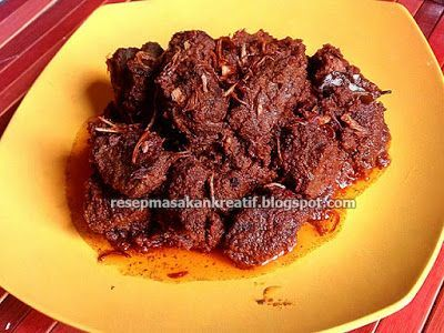 Resep Rendang Asli Padang Oleh Muchliyanty Asril Cookpad Resep Masakan Masakan Resep