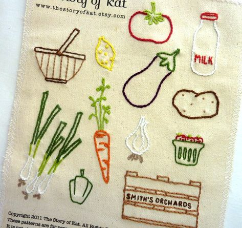 Farmers Market Hand Embroidery Pattern