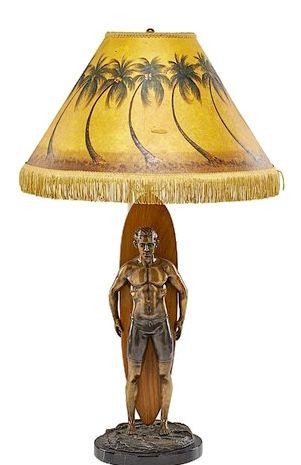 Pin By Taz Tamaki On Duke Kahanamoku Lamps Surf Decor Lamp Novelty Lamp