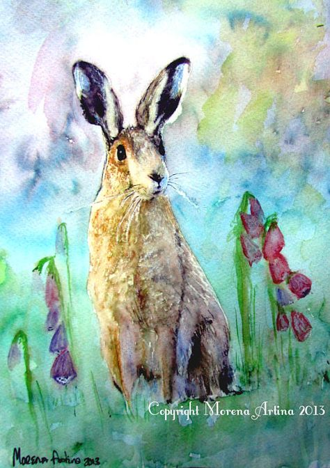 Dreamy Hare Close Up Hare Beautiful Giclee Print by morenaartina, £10.47