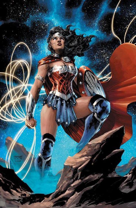 Wonder Woman - line art: Jim Lee, color: Jeremy Colwell Heros Comics, Dc Comics Characters, Comics Girls, Dc Heroes, Comic Book Heroes, Comic Books Art, Comic Art, Wonder Woman Kunst, Wonder Woman Art