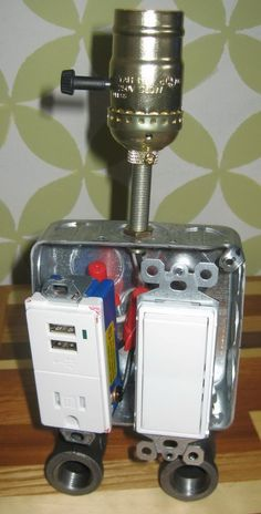 Robot lamp mr i have 4 usb outlets robot outlets and etsy build a lamp combo usb charger easy fun diy aloadofball Image collections