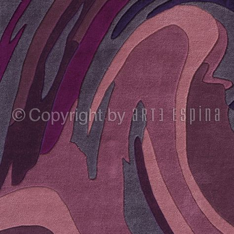 Tapis action painting violet arte espina 70x140 - Tapis Cosy ...