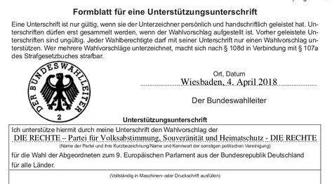 Pin Von Klaus Wolf Auf Deutschland Wahlen Europawahl Unterschrift