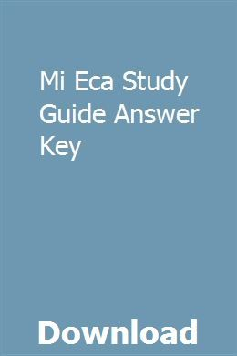 Mi Eca Study Guide Answer Key Study Guide Answer Keys Crash Course Literature