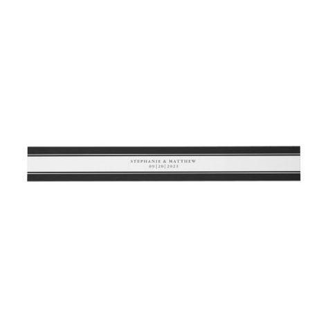 Chic Black Border Elegant Script Wedding Suite #elegantwedding #black #frame #elegant #chicwedding #calligraphy #typography #simple #borders #mailing