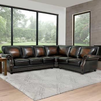 Thomasville Artesia Fabric Sectional With Ottoman In 2021 Leather Sectional Sectional Fabric Sectional