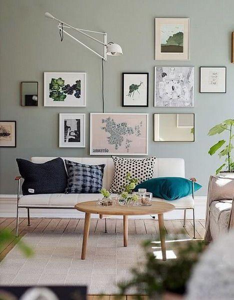 Sage Green Livingroom Interior Trends Color 2021 In 2020 Living Room Colors Trending Decor Beige Living Rooms