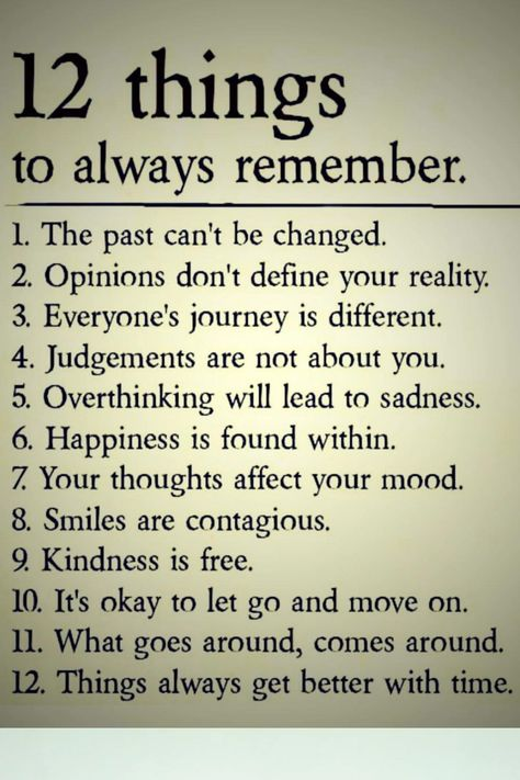 12 things to always remember #quotes