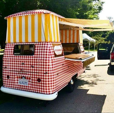 Stripes and Checks!  Picnic Truck