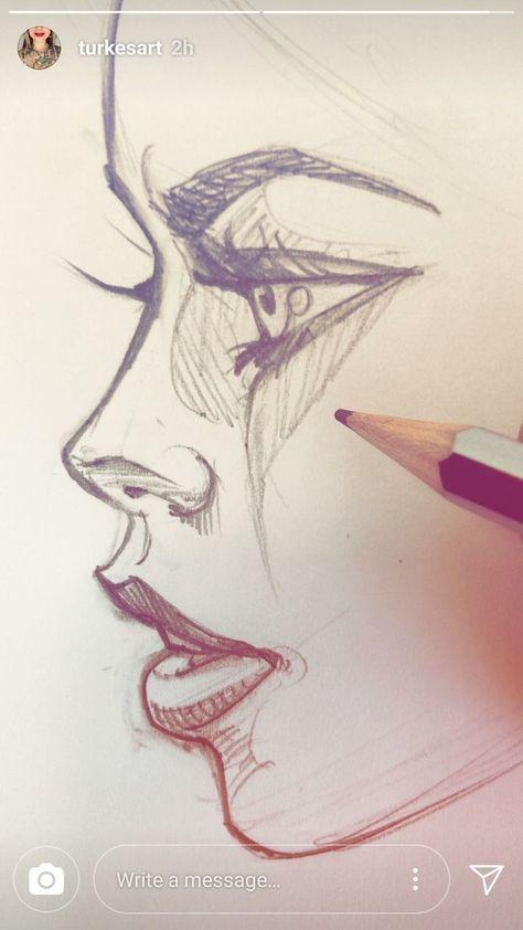Haar-Stream Kunst Zeichnung Inspiration   #HaarStream #inspiration #Kunst #zeichnung #Women #Fashion
