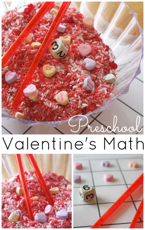 Heart Math Counting Game Preschool Valentine's Day Activity