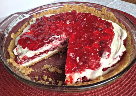 Raspberry Ribbon Pie