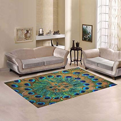 D Story Sweet Home Art Floor Decor Peacock Feather Area Rug Carpet Floor Rug 7 X5 For Living Room Bedr Living Room Carpet Rugs On Carpet Peacock Decor Bedroom