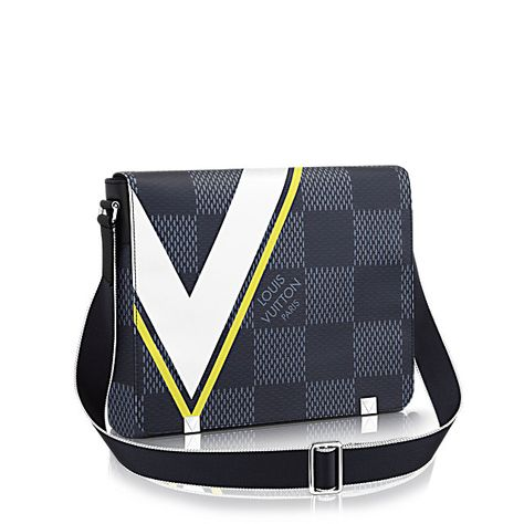 86893e38799c District MM Damier Cobalt Canvas in Men s America s Cup 2017 collections by Louis  Vuitton