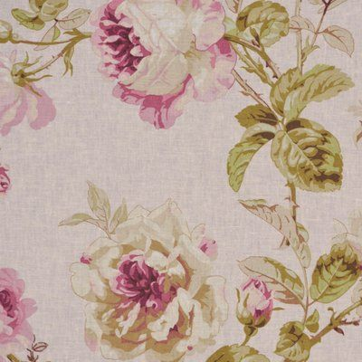 Rm Coco Allure Boutique Foliage Linen Blend Fabric Floral Upholstery Fabric Flowery Wallpaper Vintage Floral Fabric