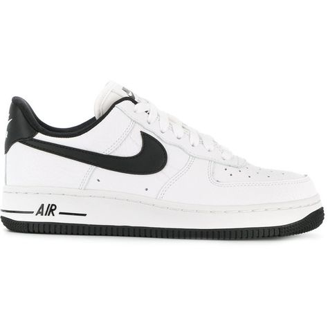new style ae4eb a7900 Nike Air Force 1 Low  07 sneakers (€120) ❤ liked on Polyvore featuring shoes,  sneakers, white, leather shoes, rubber sole shoes, white leather sneakers,  ...