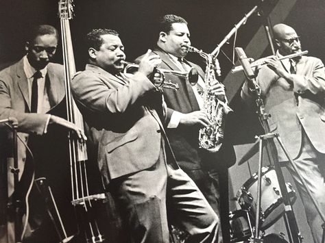 Cannonball Adderley Sextet front-line with Nat, Yusef (and Sam Jones) at Newport…